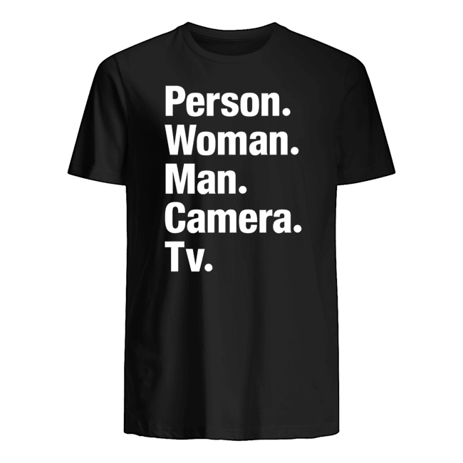 person woman man camera tv t shirt
