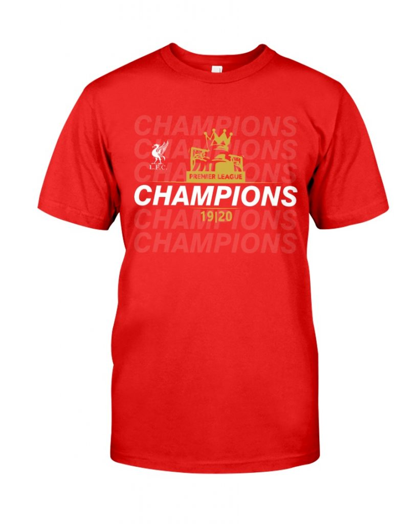 liverpool premier league champions t shirt