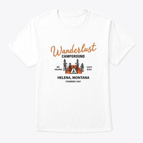 Wanderlust campground t shirt
